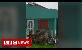Hurricane Dorian: Destruction as storm hits Bahamas - BBC News