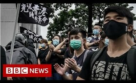 Thousands of students protest in Hong Kong - BBC News