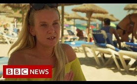 The woman stopping balcony fall deaths in Magaluf - BBC News