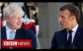 Backstop indispensable, Macron tells Johnson - BBC News