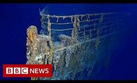 Sub dive reveals Titanic decay - BBC News