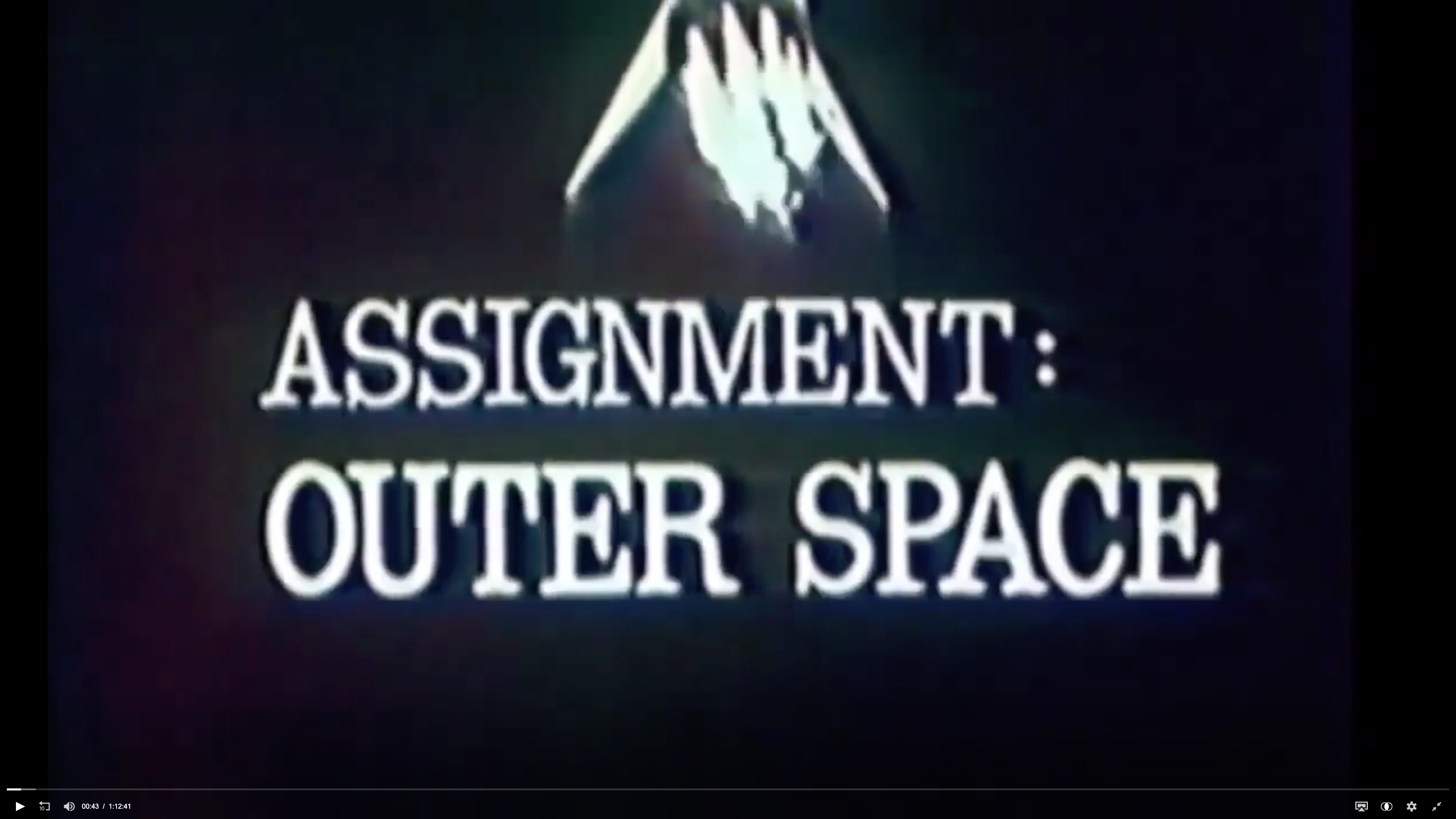 Assignment Outer Space 1960 by Doctor S Strange