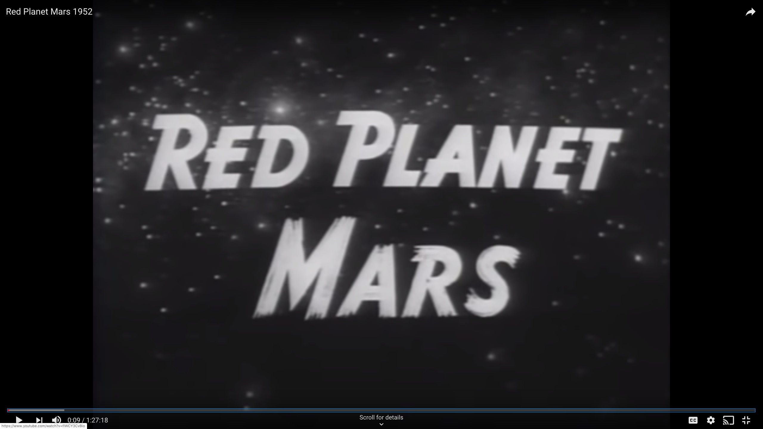 Red Planet Mars 1952