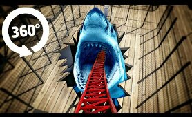 VR 360 Video MEGALODON Roller Coaster Ride | 4K Virtual Reality