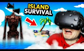 Hiding From SIREN HEAD On REMOTE ISLAND In VR (Island Time VR Funny Gameplay)