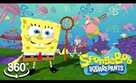 Spongebob Squarepants! - 360° Let's Go JELLYFISHING - (The First 3D VR Game Experience!)