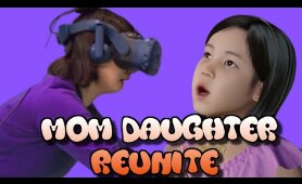 WATCH Mother Reunite With Her Deceased Daughter in VR | Korean Virtual Reality Dead  Daughter VR