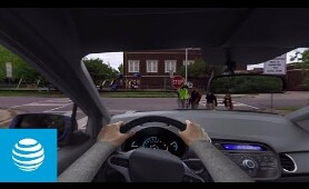 360 It Can Wait Driving Simulation | It Can Wait | AT&T