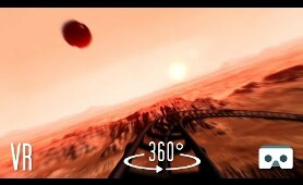360 VR Mars Roller Coaster: Virtual Reality 360 3D Video