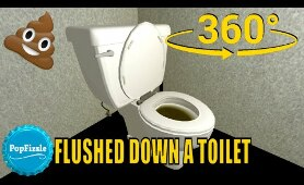 360 video | VR | Flushed down a toilet version 2 #360video
