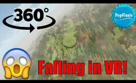 360 Video || Falling in VR || Horror Animation