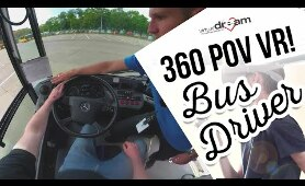 Virtual Dream - Bus Driver day in POV VR 360 Video!
